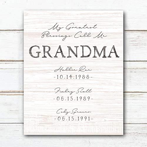 Top 7 My Greatest Blessings Call me Grandma – Posters & Prints