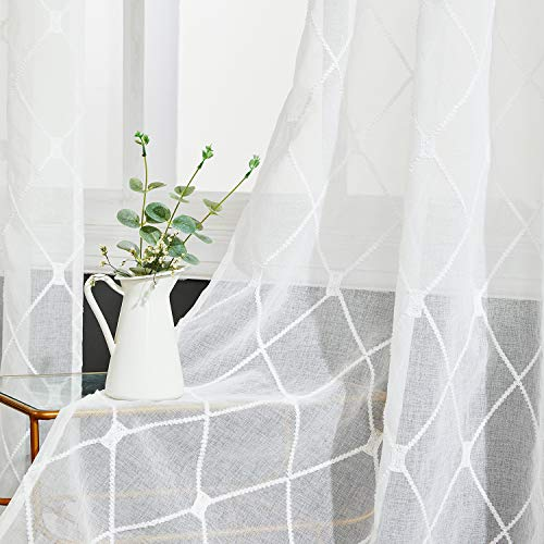 Top 10 Embroidered Sheer Curtains – Window Curtain Panels