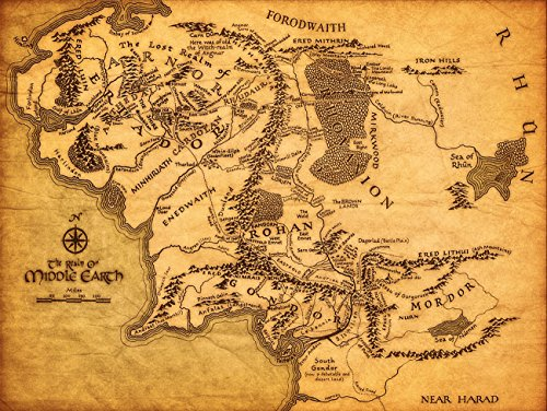 Top 9 Lord of The Rings MAP of Middle Earth – Posters & Prints