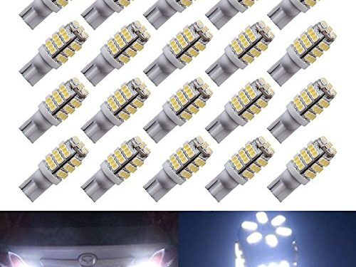 20 X T10 Wedge Side Trailer 42-SMD LED Pure White Interior Light 168 192 2825 194 921