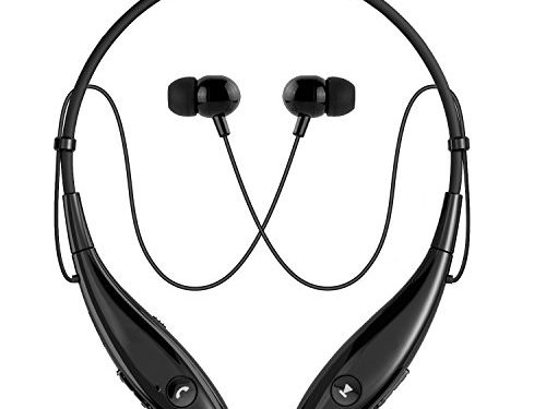 Bluetooth Headphones, SoundPEATS Wireless Headset Stereo Neckband Sport Earbuds with Mic 10 Hours Play Time, Bluetooth 4.1, Sweatproof – Upgraded Version of Q800