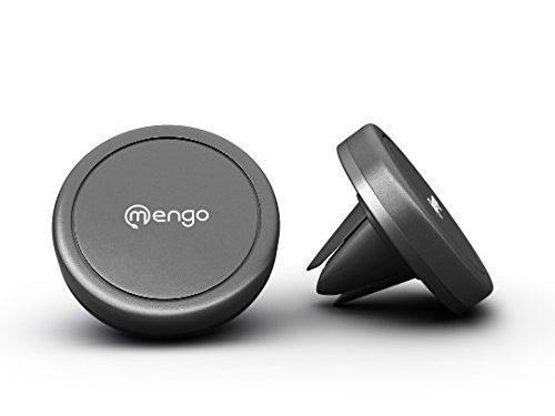Car Mount, Mengo Magna-Snap Mini Magnetic Air Vent Car Mount for Smartphones iPhone, Samsung, HTC, LG, Nokia, & More, Mp3 Players, and GPS Devices – Retail Packaging