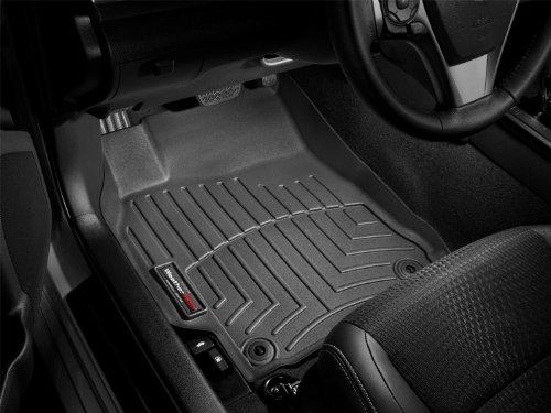 2011-2013 Ford Edge Black WeatherTech Floor Liner Full Set With Dual Floor Posts