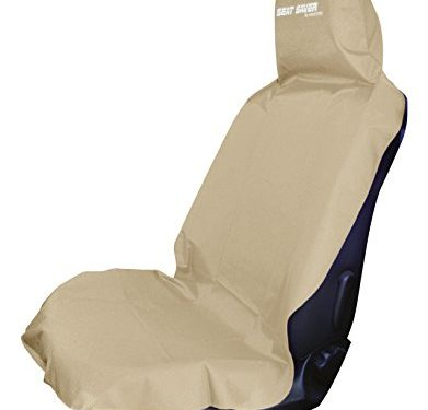 Waterproof Removable Universal Car Bucket Seat Cover – Seat Saver – Easy on and Off BEIGE