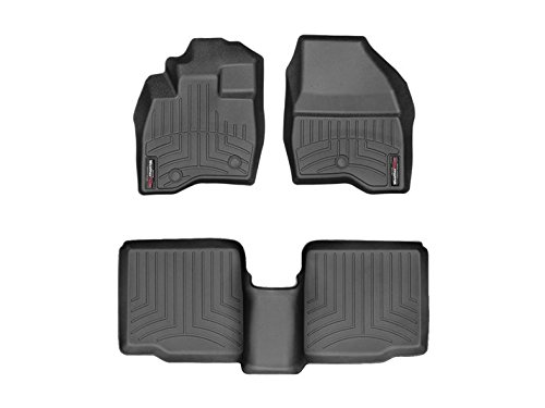 Weathertech DigitalFit 449811-443592 – First and Second Row All Weather Floor Liners for 2017 Ford Explorer Black