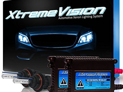 XtremeVision 35W HID Xenon Conversion Kit with Premium Slim Ballast – 2 Year Warranty – Bright White – Bi-Xenon 9007 5000K