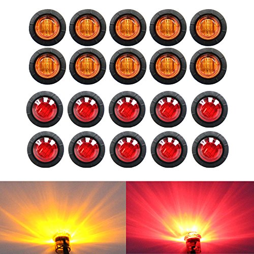10 Pcs Tmh 3  4 U2033 Inch Mount Smoked Lens  U0026 White Led