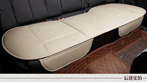 EDEALYN 53 × 19.3 inches Car Interior Accessories Smooth PU Leatherette long rear seat Auto seat covers Seat Cushion car seat covers Rear -Beige