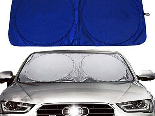 Relanson Jumbo Sun Shade for Car windshield Keeps Vehicle Cool-UV Ray Protector SunshadeStandard/59″ x 31.5″
