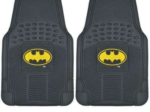 BDK WBMT-1372 Black PVC Rubber Batman Floor Mat – 2 Piece