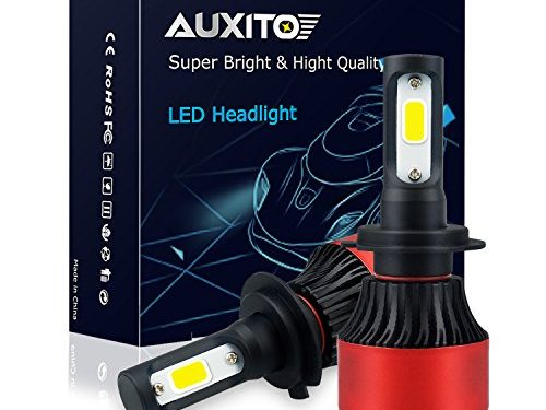 AUXITO Automobile H7 LED Headlight Bulbs All-in-One Conversion Kit 6500K Cool White 72W 8000Lms Per Pair -New Version with US COB LED Chips Super Bright
