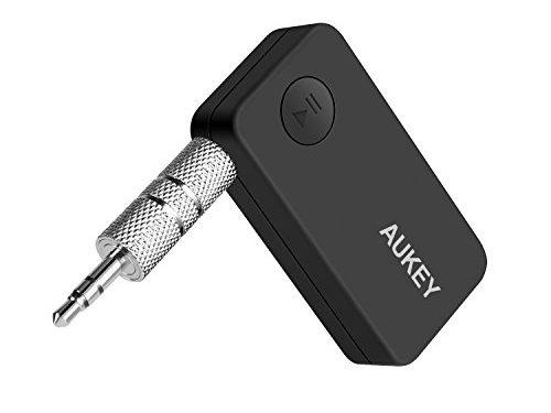 AUKEY Bluetooth Receiver for Car, Audio Receiver Car Kit with Hands Free Calling for Home & Car Audio System