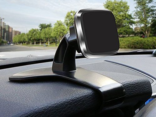 Car Phone Mount,  New Design Super Strong Magnet360 Degree Rotation Bukm Universal Magnetic Dashboard Phone Holder Mount for Cell Phones and Mini Tablets
