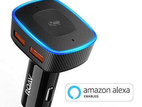 Roav VIVA, Alexa Enabled 2-Port USB Car Charger for In-Vehicle Navigation, Hands-Free Calling and Music Streaming Spotify Available Soon. For Cars with Bluetooth/CarPlay/Android Auto/Aux In