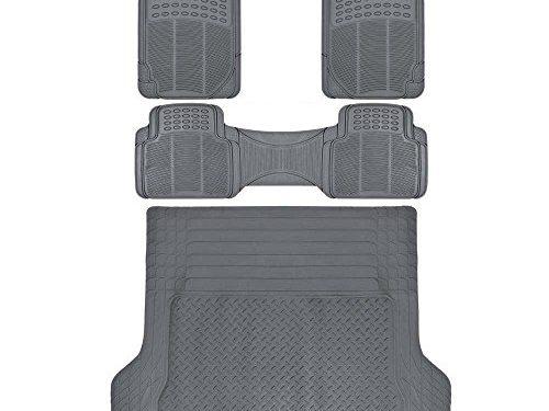ProLiner Gray All Weather Rubber Auto Floor Mats & Cargo Liner – Heavy Duty 4pc Set