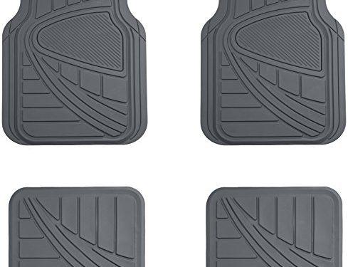 AmazonBasics 4 Piece Car Floor Mat, Gray