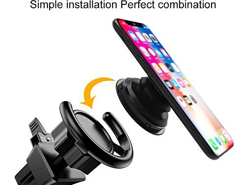 COCOFU Pop Out Stand Air Vent Car Mount 360° Rotation Car Dashboard Desk Wall Mount For Pop Socket Expanding Grip Stand Users-Black