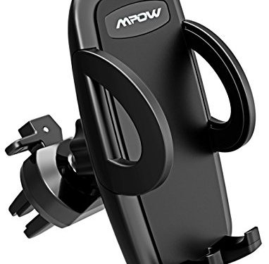 Mpow UPGRADE Air Vent Car Phone Mount, 3-level Adjustable Clamp with Universal Phone Cradle for iPhone X 8/8s 7 7 Plus 6s Plus 6s 6 SE Samsung Galaxy S8 Plus S8 Edge S7 S6 Note 8 Nexus 6 & Smartphones