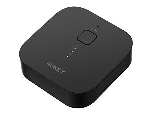 AUKEY Bluetooth Receiver Wireless Audio Music Adapter A2DP with Hands-free Calling and 3.5mm stereo jack for Home and Car Audio System