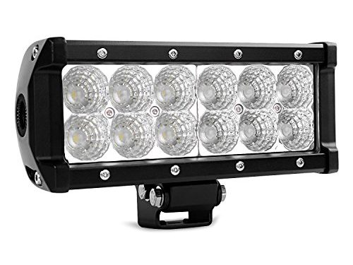 Nilight 7.5″ 36w Flood Led Light Bar Jeep Off Road Lights 12v Led Light Super Bright for Jeep Cabin Boat Suv Truck Car Atvs,2 Years Warranty