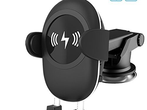 Spedal Wireless Car Charger with Suction Mount Holder and Air Vent Mount for Samsung Galaxy S8, S7/S7 Edge, Note 8 & Standard Charge for iPhone X, 8/8 Plus & Qi Enabled Devices