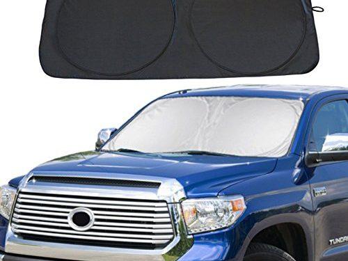 Windshield Sun Shade Car Window Shade UV Reflector Keeps Vehicle Cool Folding Sun Visor Heat and Sun Reflector Ultra-Large: 70″ X 35″