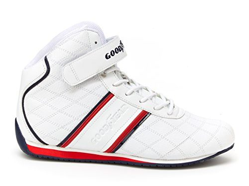 Goodyear Mens Clutch Racer Sneaker – High-Top Sneakers, PU Leather & Mesh Lining