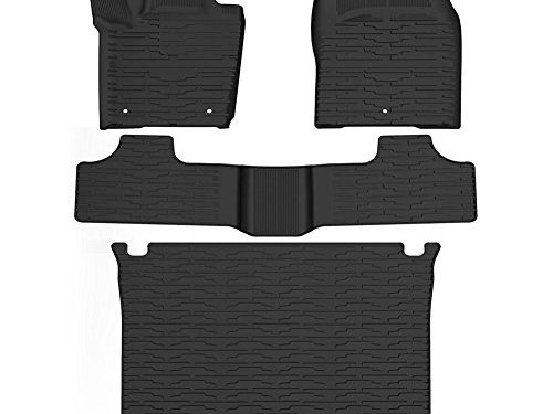 YITAMOTOR Slush Floor Mats & Cargo Tray Liner Set for 2011-2016 Jeep Grand Cherokee, All Weather Protection Heavy Duty Rubber Car Floor Carpet