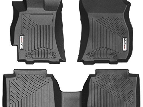 YITAMOTOR Front & 2nd Seat Floor Mats Floorliners Compatible for 2015-2018 Subaru Legacy/Outback, Black