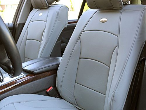 FH Group PU205SOLIDGRAY102 Solid Gray Ultra Comfort Leatherette Front Seat Cushion Airbag Compatible