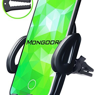 Universal Air Vent Car Phone Mount Holder – 2018 Updated Version by Mongoora – for Any Smartphone – Car Cell Phone Holder – Vent Phone Holder – Car Vent Mount – Air Vent Mount Holder – for Women Men