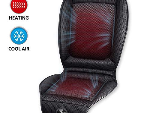 2 Levels Heating Pad & 3 Speeds Cool Car Fan, Seat Warmer or Seat Cooler for 12V/24V Truck Car and Home Office Use – SNAILAX Heated Seat Cushion with Cooling