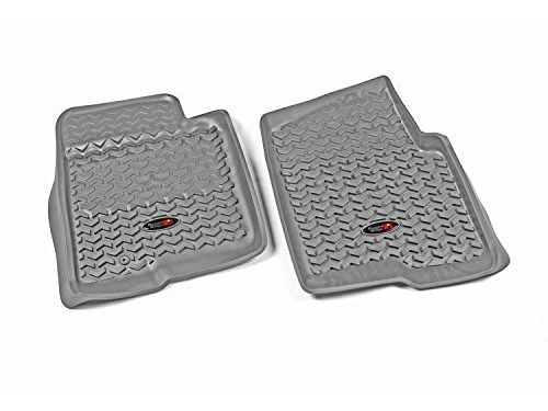 Rugged Ridge All-Terrain 84902.03 Grey Front Row Floor Liner For Select Ford F-150 Models
