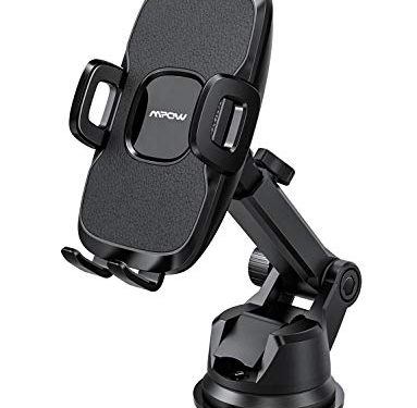 Mpow Dashboard Car Phone Mount, Stable Windshield/Desk Car Phone Holder, 2 Suction Levels, Washable Gel Pad, for iPhone XR/XS Max/X/8, Galaxy S9/S8/S7/S6, Google, Huawei, One Plus, Moto, and More