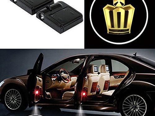 Bearfire 2 Pcs Wireless Car Door Led Welcome Laser Projector Logo Light Ghost Shadow Light Lamp Logos crown