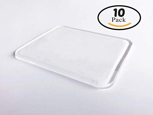 10 Super Sticky Silicone Gel Pads Clear, Anti-Slip Gel Pads Auto Gel Holders, Durable Washable Cell pad Transparent