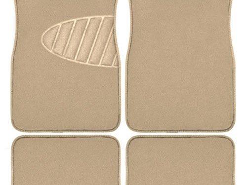 Armor All 78916 4-Piece Tan Heavy Duty Carpet Floor Mat with Heel Pad
