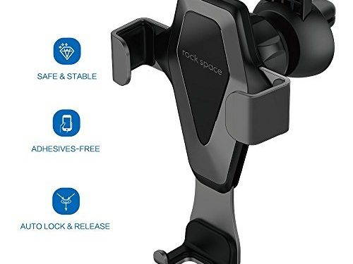 Hands-free Cell Phone Holder for Car, Air Vent Car Phone Mount with Auto Lock and Auto Release for iPhone X/8/7/7Plus/6s/6Plus, Samsung Galaxy/S8/S7/S6/Note 5, Nexus 6, etc. – Car Cell Phone Holder