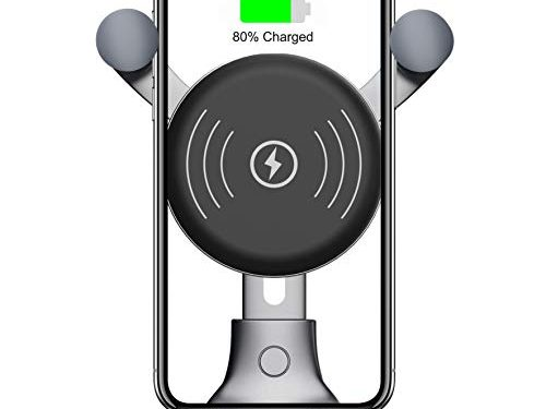 2019 New 10W Wireless Car Charger, Wireless Fast Car Mount, Air Vent Phone Holder, 10W Compatible for Samsung Galaxy S10/S10+/S10e/S9/S9+/Note 9, 7.5W Compatible for iPhone Xs Max/Xs/XR/X/ 8/8 Plus