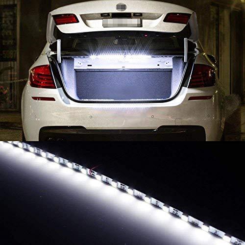 LivTee 12V Car LED Strip Light,4pcs 48 LED Multicolor