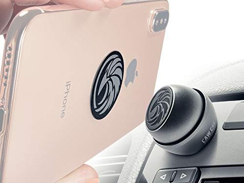 Universal Car Phone Mount Magnetic – Truly One-Handed Cell Phone Holder for Car Dashboard – Reliable iPhone Car Mount for Any Smartphone or GPS