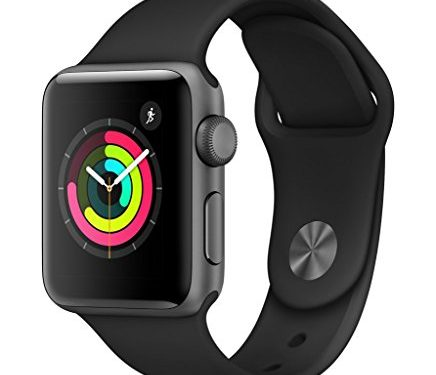 Space Gray Aluminium Case with Black Sport Band – AppleWatch Series3 GPS, 38mm