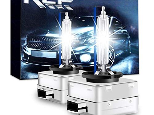 A Pair D1S/ D1R 8000K Xenon HID Replacement Bulb Ice Blue Metal Stents Base 12V Car Headlight Lamps Head Lights 35W – D1S8 – RCP