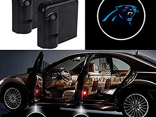 For Carolina Panthers Car Door Led Welcome Laser Projector Car Door Courtesy Light Suitable Fit for all brands of carsCarolina Panthers