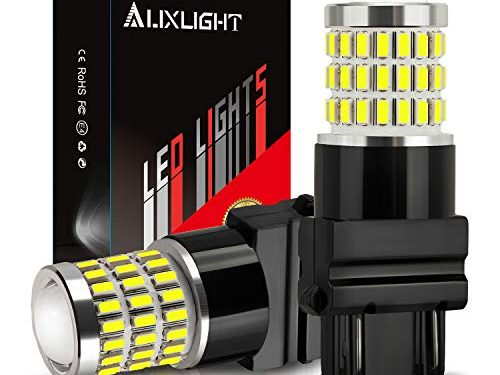 AUXLIGHT 3157 3156 3057 4157 3157K LED Bulbs Xenon White, Ultra Bright 57-SMD LED Replacement for Back Up/Reverse Lights, Brake/Tail Lights, Turn Signal/Parking or Running Lights Pack of 2