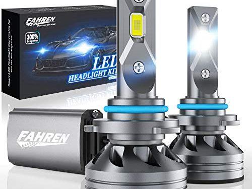 Fahren 9005/HB3/H10 LED Headlight Bulbs, 60W 10000 Lumens Super Bright LED Headlights Conversion Kit 6500K Cool White IP68 Waterproof
