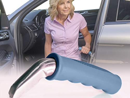Able Life Auto Cane, Portable Vehicle Support Handle, Standing Mobility Aid, Car Assist Cane Grab Bar, Blue