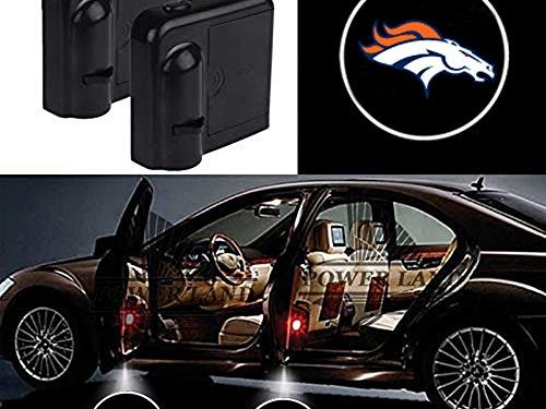 For Denver Broncos Car Door Led Welcome Laser Projector Car Door Courtesy Light Suitable Fit for all brands of carsDenver Broncos
