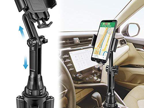 Lorima Car Cup Holder Phone Mount –Adjustable Cupholder Cell Phone Holder for Smartphone iPhone 11 Pro/XR/Xs/XS Max/X/8/7Plus/Galaxy/Xperia/Samsung