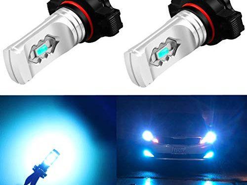 Alla Lighting 3600lm Xtreme Super Bright PSX24W LED Bulbs PSX24W Fog Light High Illumination ETI 56-SMD LED PSX24W Bulb 12276 2504 PSX24W Fog Lights Lamp Replacement – 8000K Ice Blue